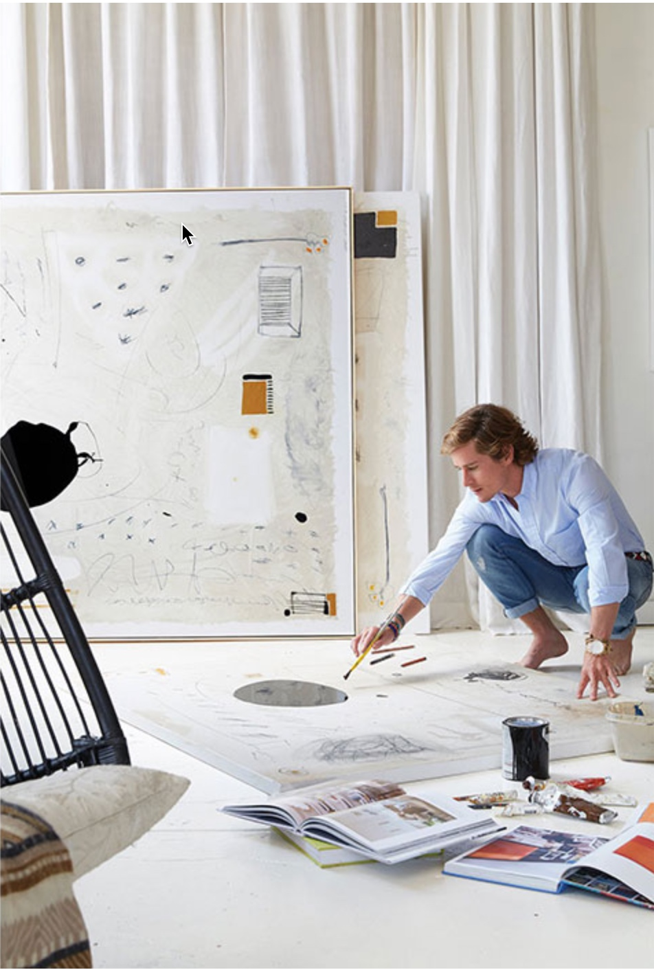 William in his studio