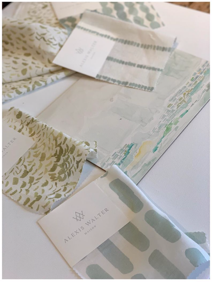 A sneak peek of the fabric collection
