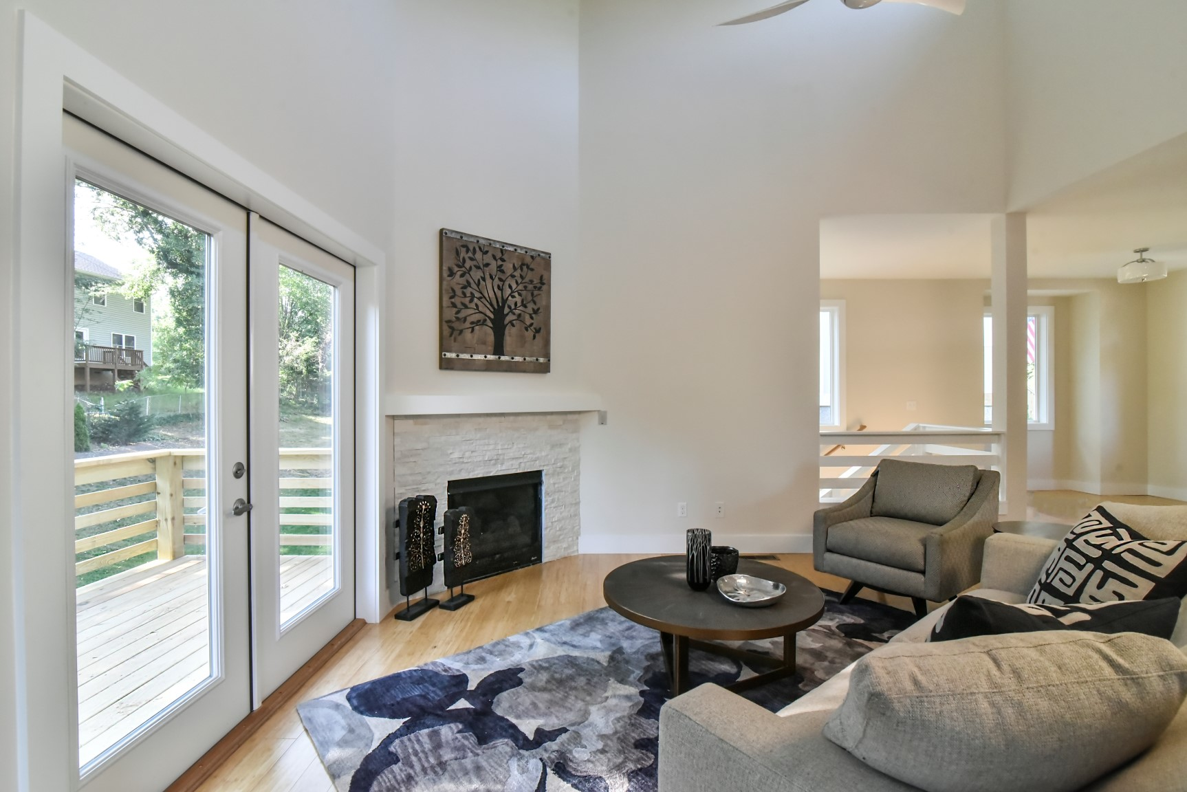 Dining/Living room opens to back porch