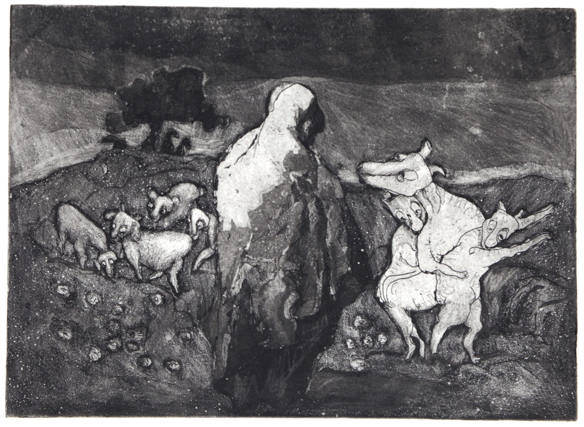 Two identical young billy goats were taken from the meadow and brought to the Temple.