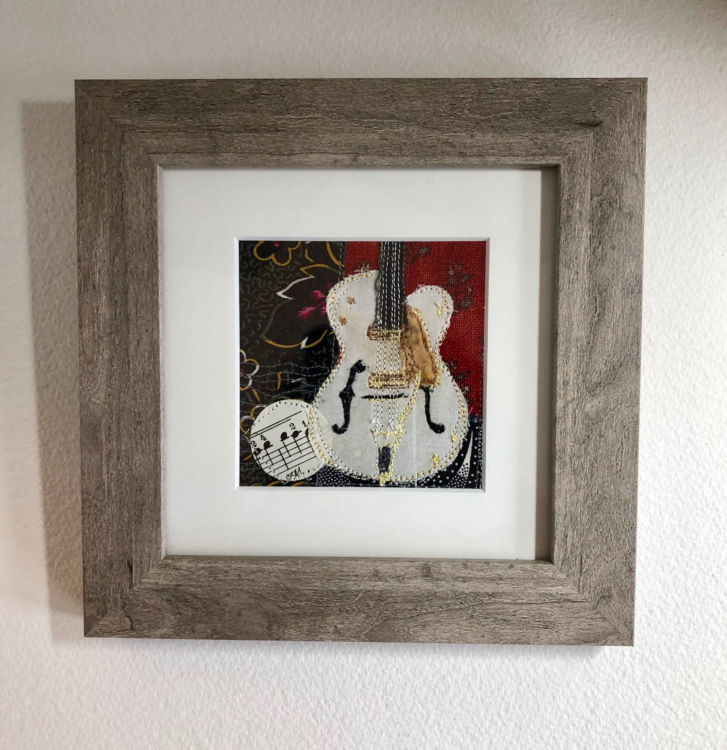 An Old Favorite - mini guitar collage