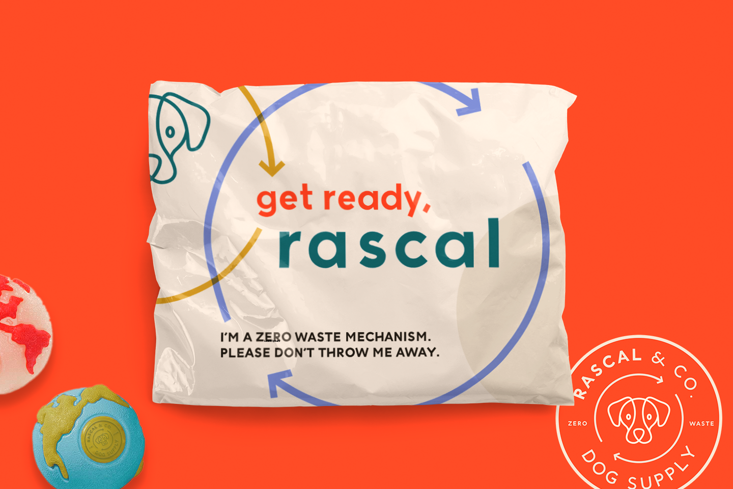 Rascal & Co. delivers high-quality dog toys from organic, recycled materials at a fair value. Instead of being designed to be destroyed, Rascal's toys are designed to be renewed again and again.