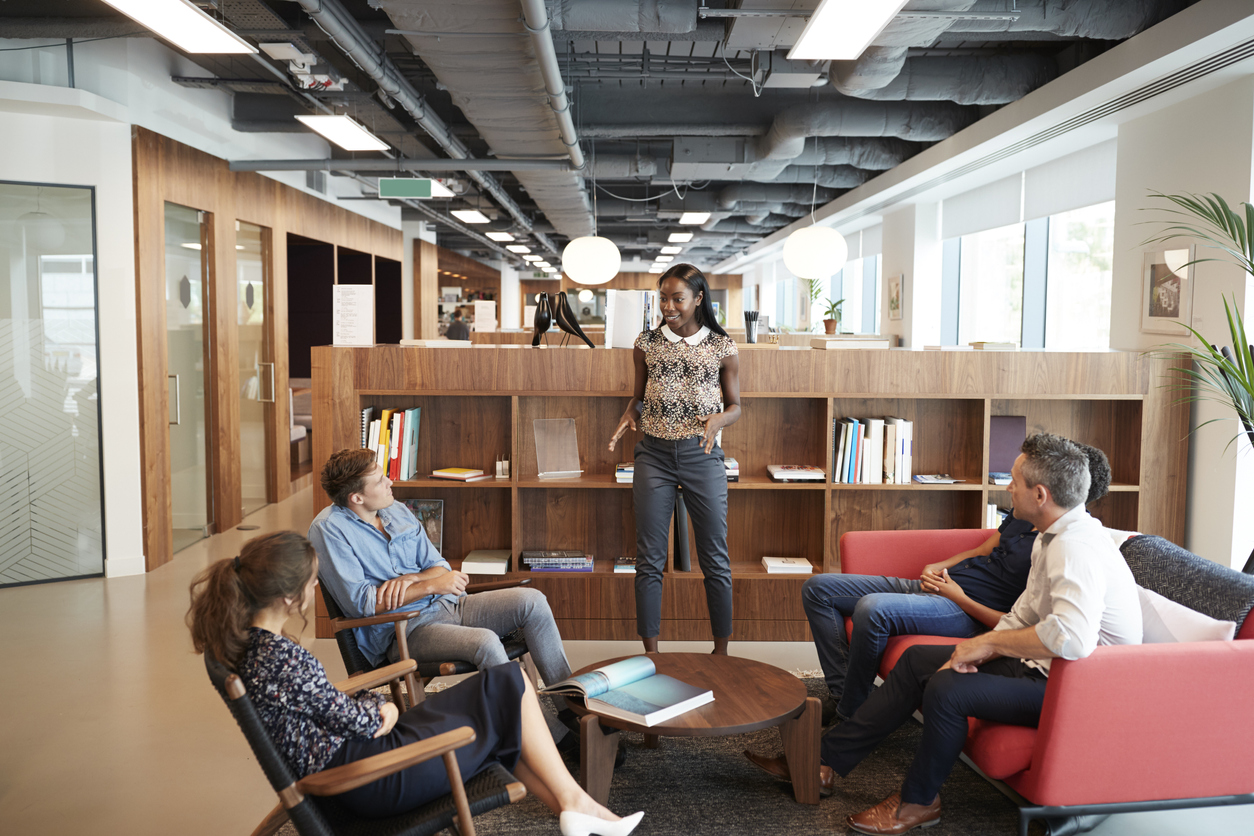 """""""Open plan offices have been found to increase distraction and reduce privacy"""" -"""