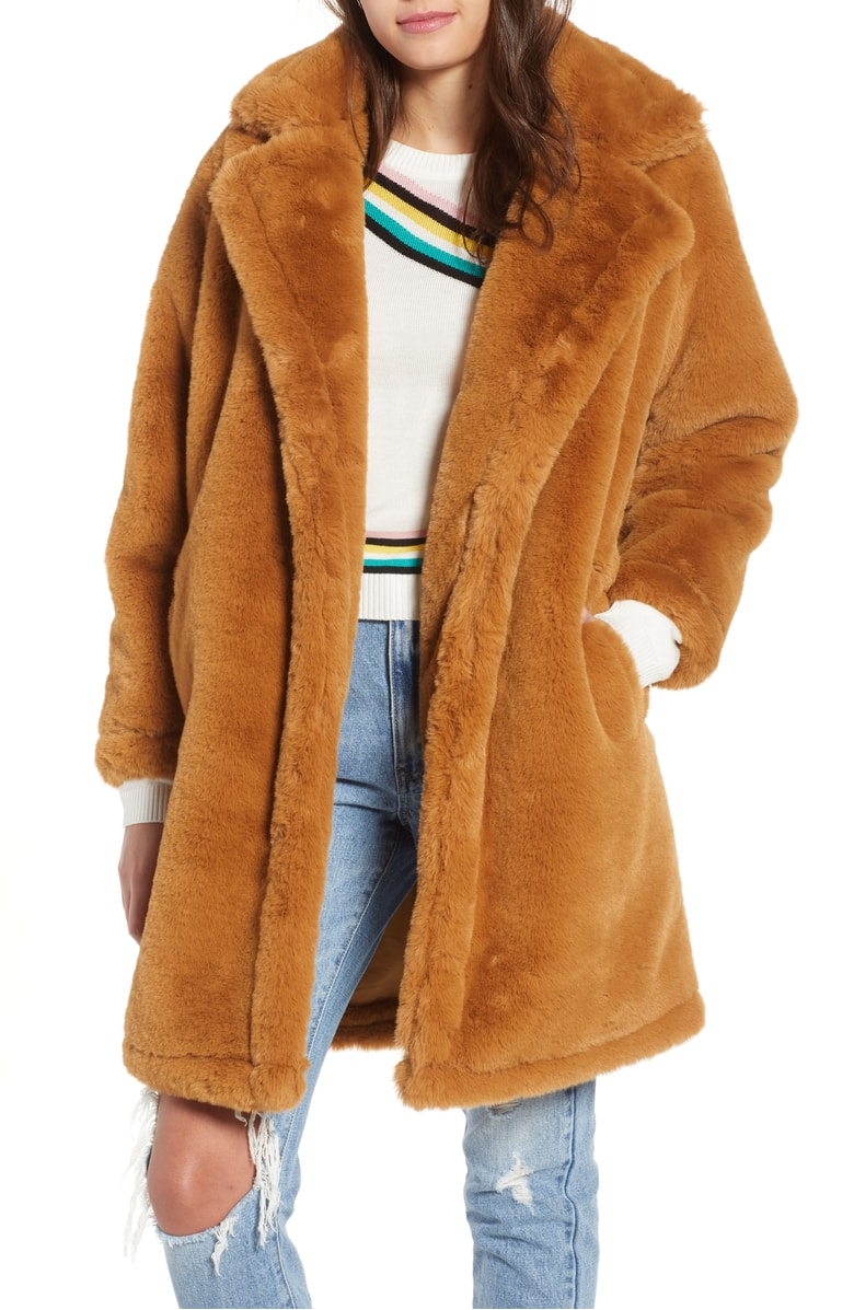 Before you judge the  teddy bear like coat , wear it. I live in Colorado so this just looks like heaven. I also love the sleeves! And I mean... $70!?