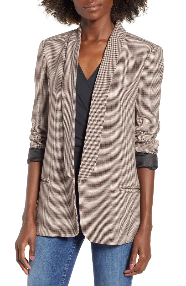 This blazer  will look good with every single color that you wear this fall. It is gorgeous and there is not much more to say about it. $55 and BEAUTIFUL.