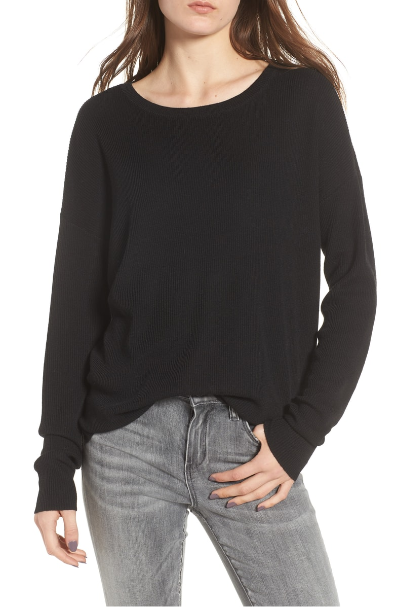 "For those of you who do not have a  ""go to"" black sweater  when you don't know what to wear, you need this because it is under $30 and again, the perfect sweater when you don't know what to wear."