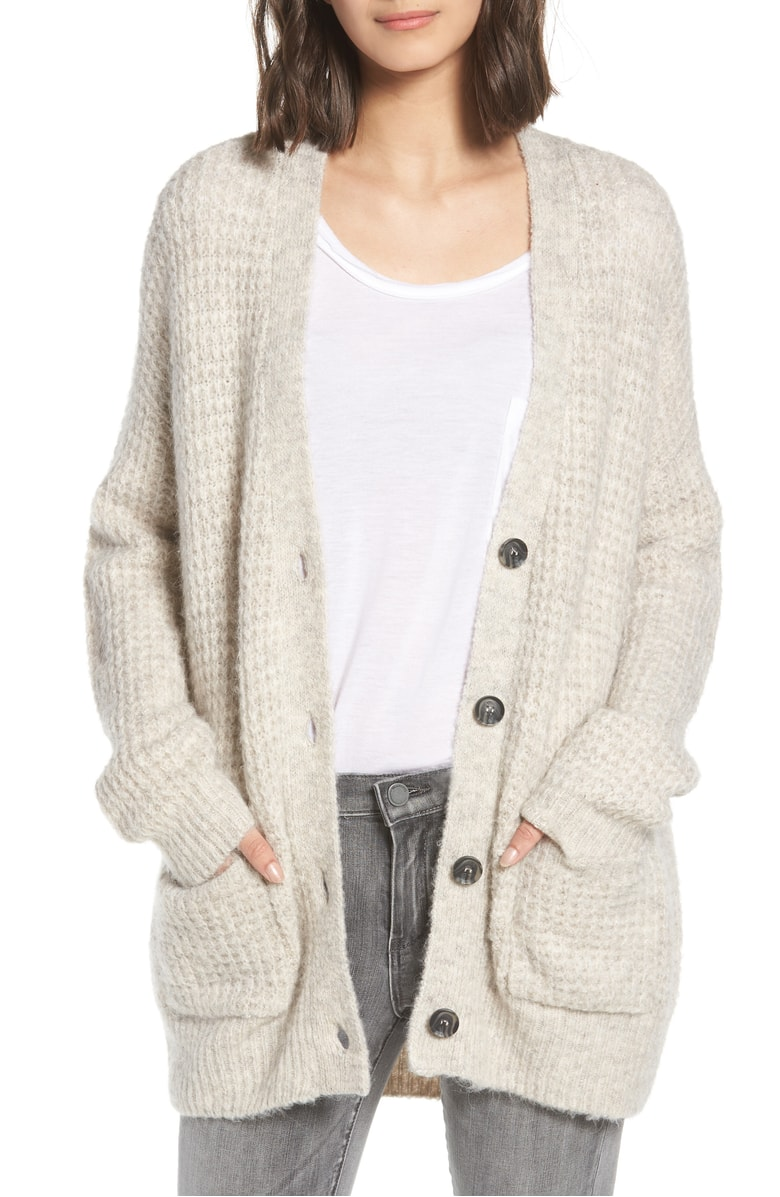 The  perfect long oatmeal colored cardigan . I have one that is from Urban Outfitters circa 2006 so I will probably invest in this.