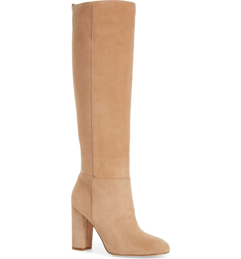 WANT. For every reason. Spray with weather proof formula and voila!  Forever gorgeous suede camel boots.  These are timeless and worth the money.