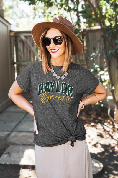 OK just kidding I did find a shirt I would wear. I love the Bears, my cousins work there, many graduated from there, two former athletes went there, one cheered there. Etc. I love the Bears. And this is super cute.