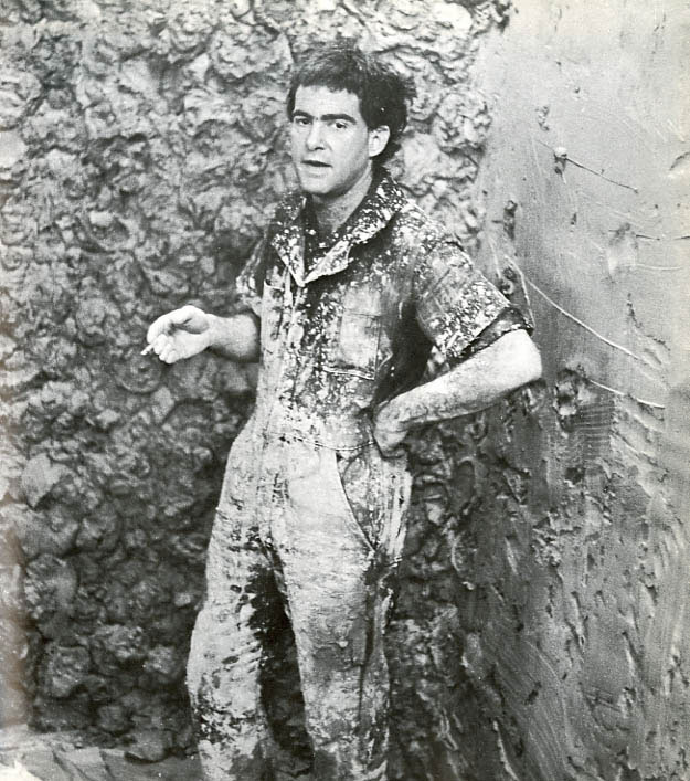 Larry Poons at Syracuse University in 1976. Photo by Stuart Lisson.