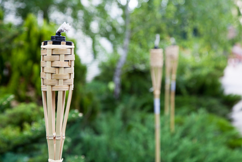 BAMBOO FIRE TORCHES -