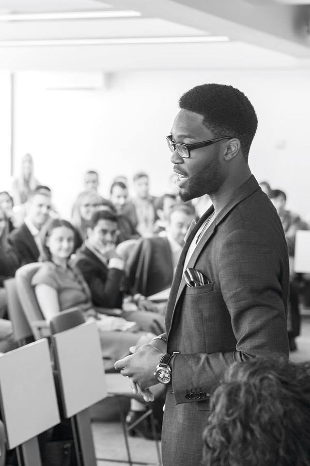 Addressing the then incoming MBA class of 2016 during my year-long stint at Hult International Business School (MBA class of 2015) in London, Dubai, and Shanghai.