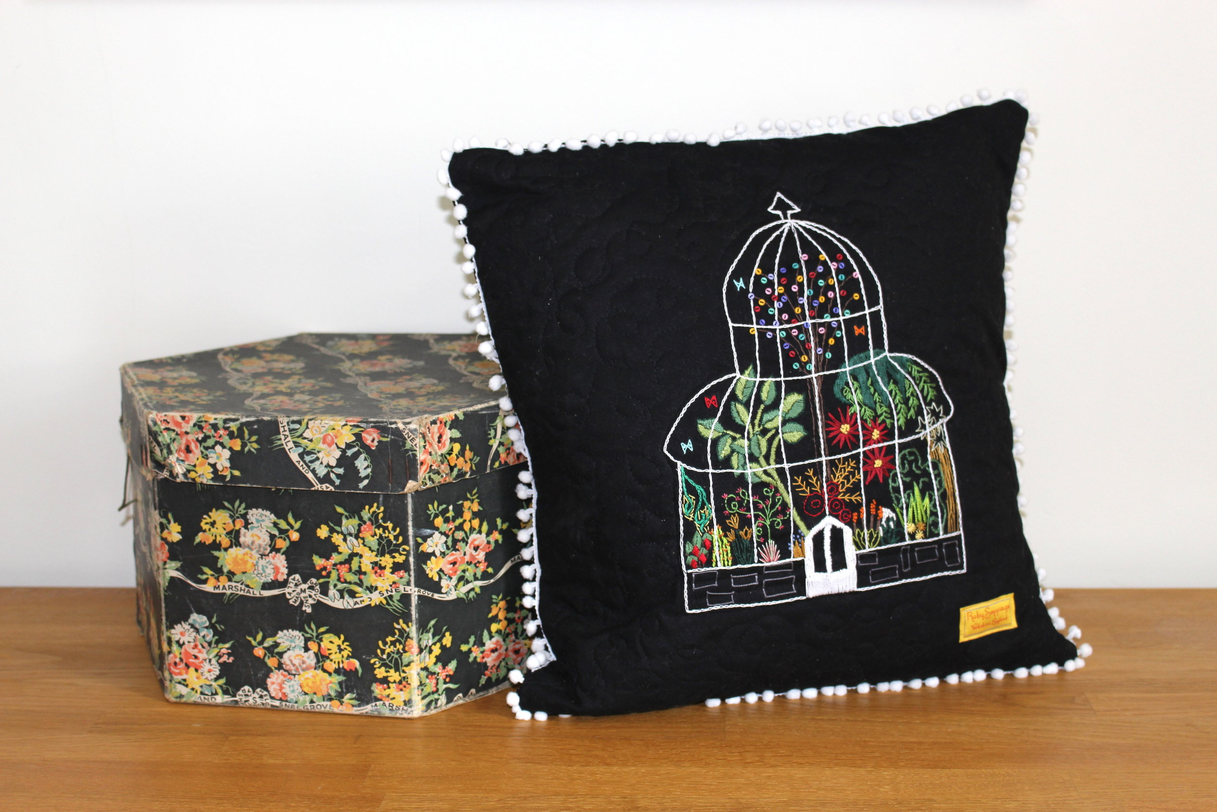 Palm House embroidery pattern