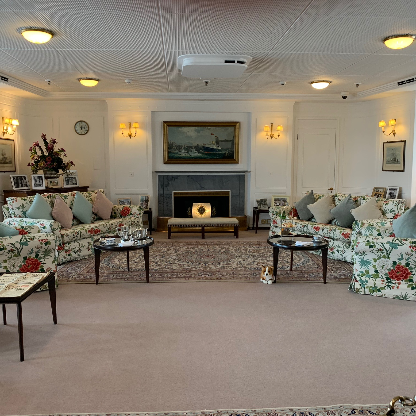 The sitting room on Britannia