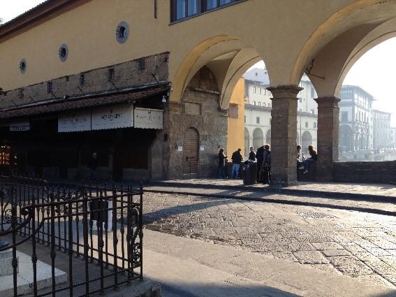 Morgenstemning på Ponte Vecchio