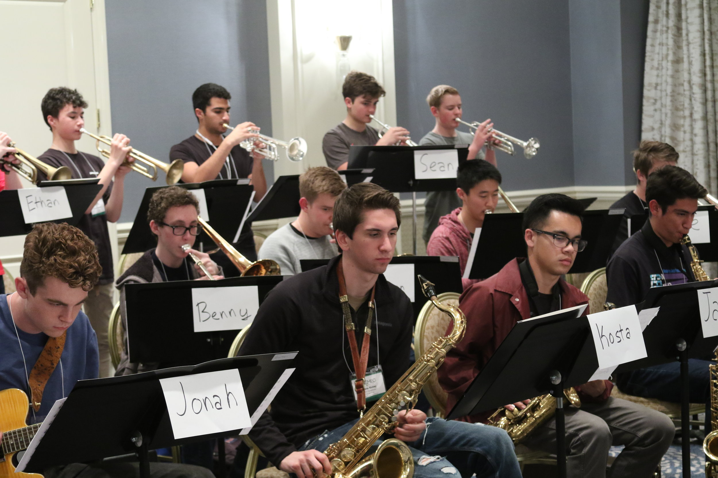 High School Jazz Band directed by Dana Landry - Check out the pictures of the students in rehearsals