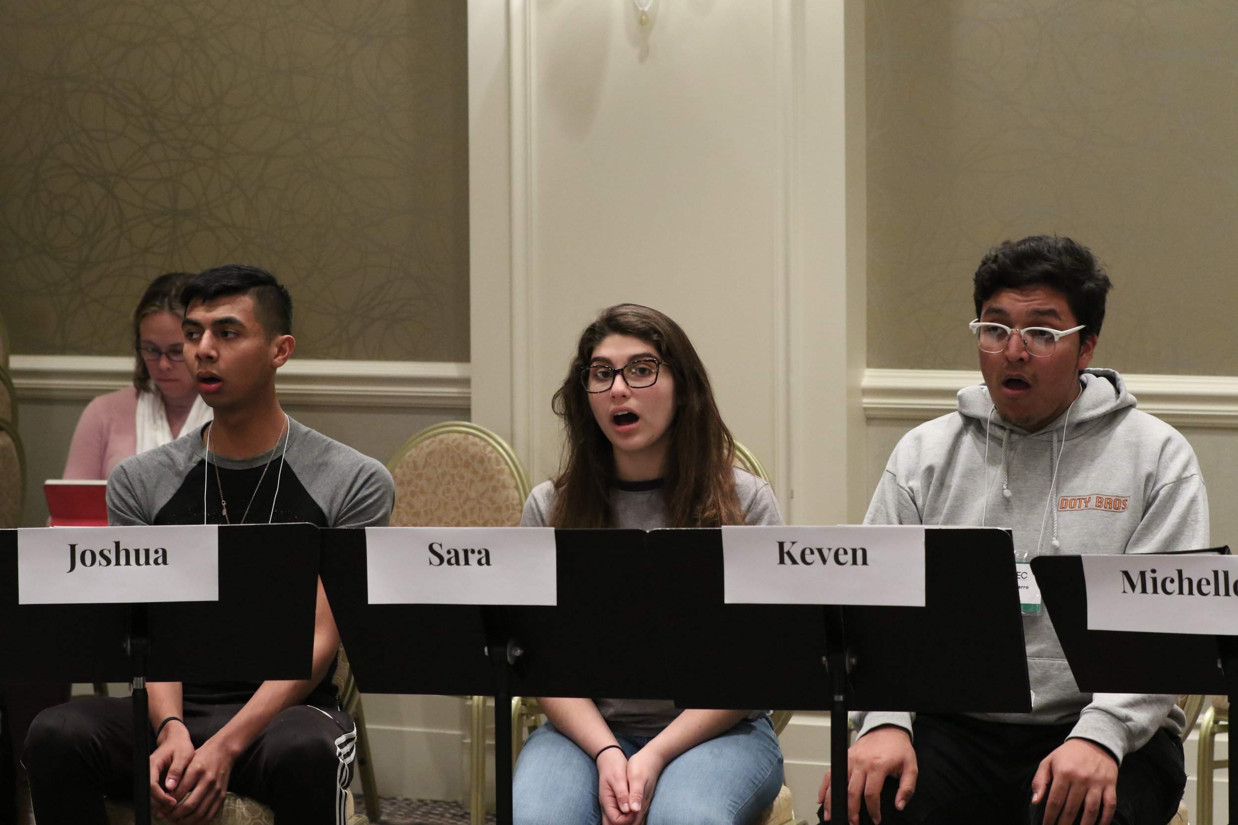 High School Vocal Jazzdirected by Dave Barduhn - Here are the students in rehearsal
