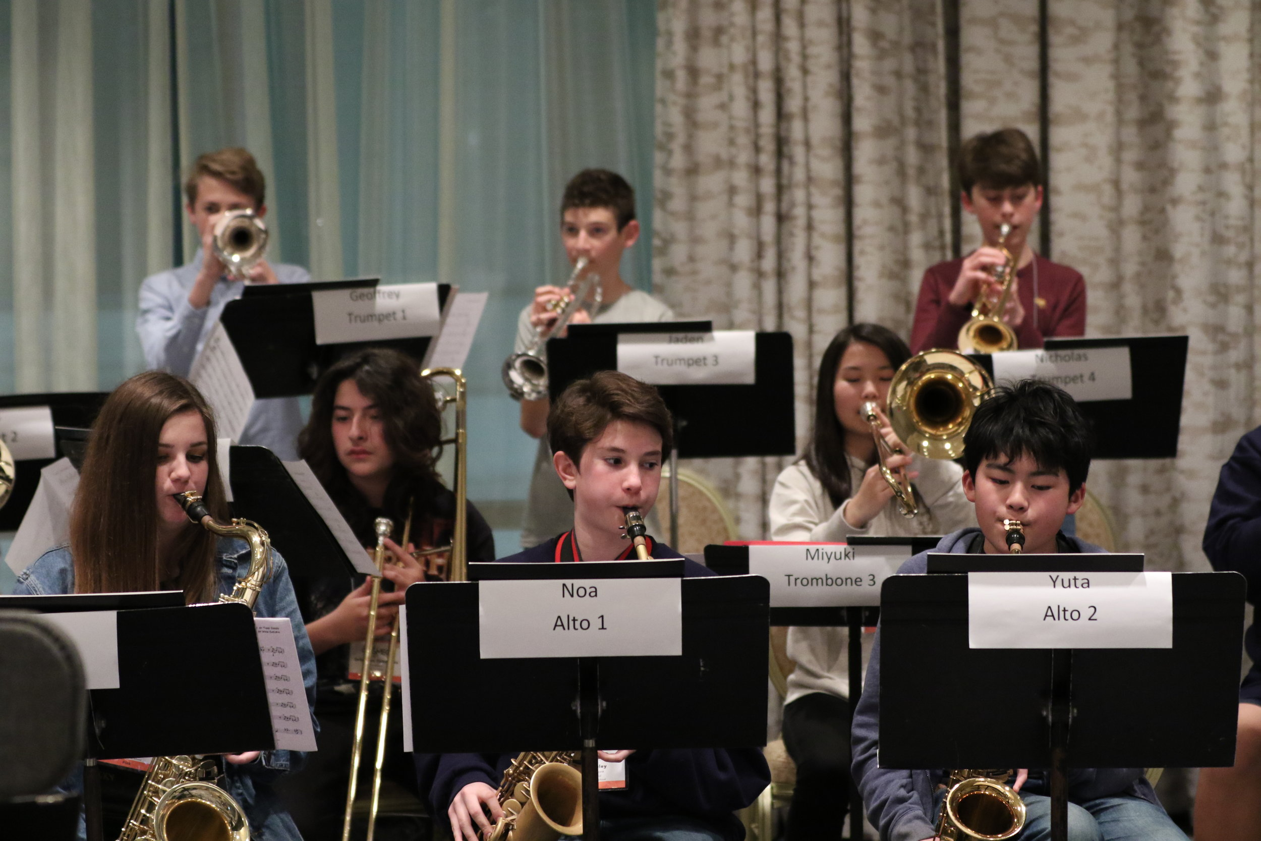 Jr. High Jazz Band directed by Mike Galisatus  - Check out the students in rehearsal