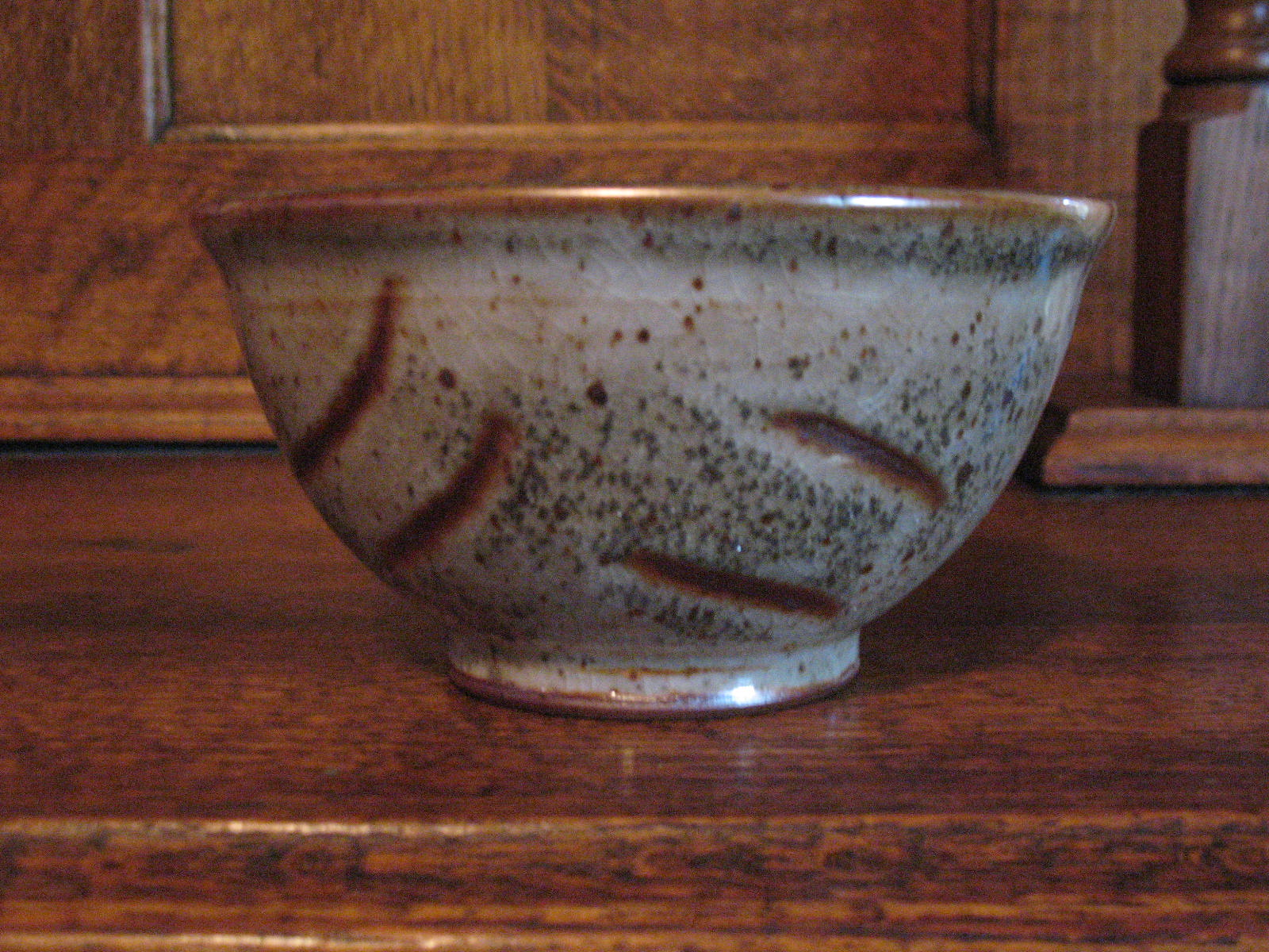 Cereal bowl with shino glaze.