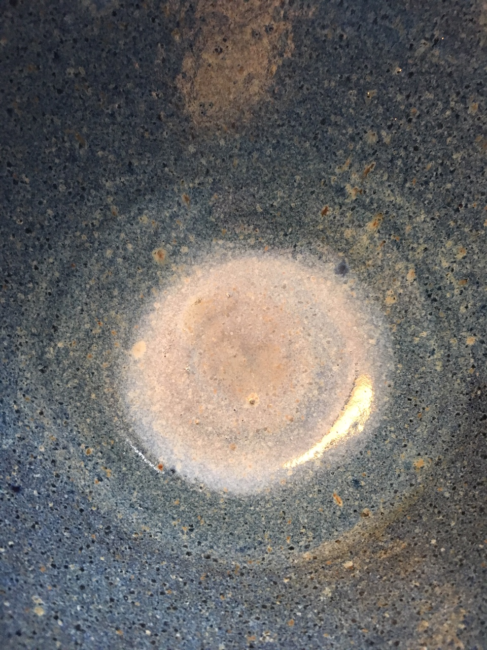Glaze detail from the inside of a serving bowl.