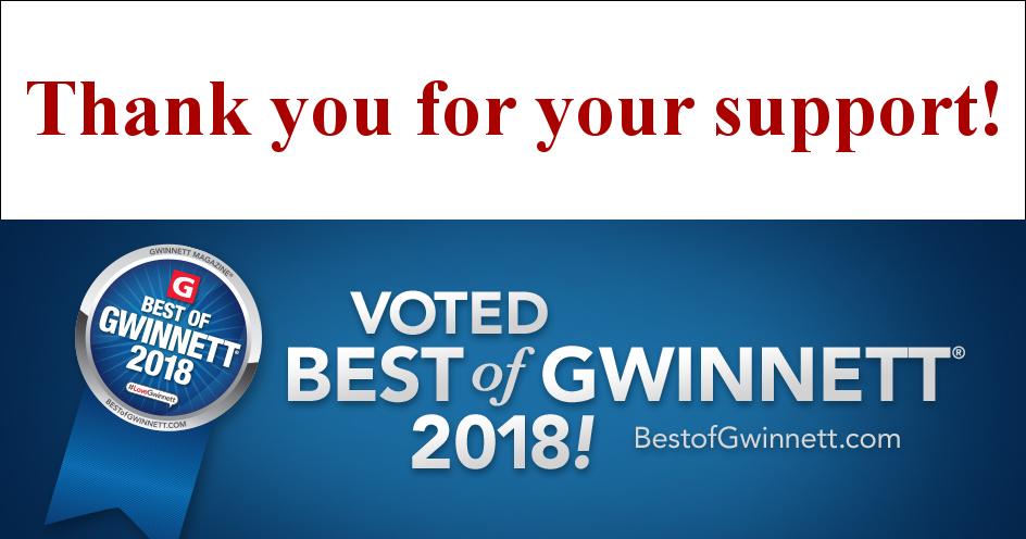 Best of Gwinnett, Two Years in a Row!