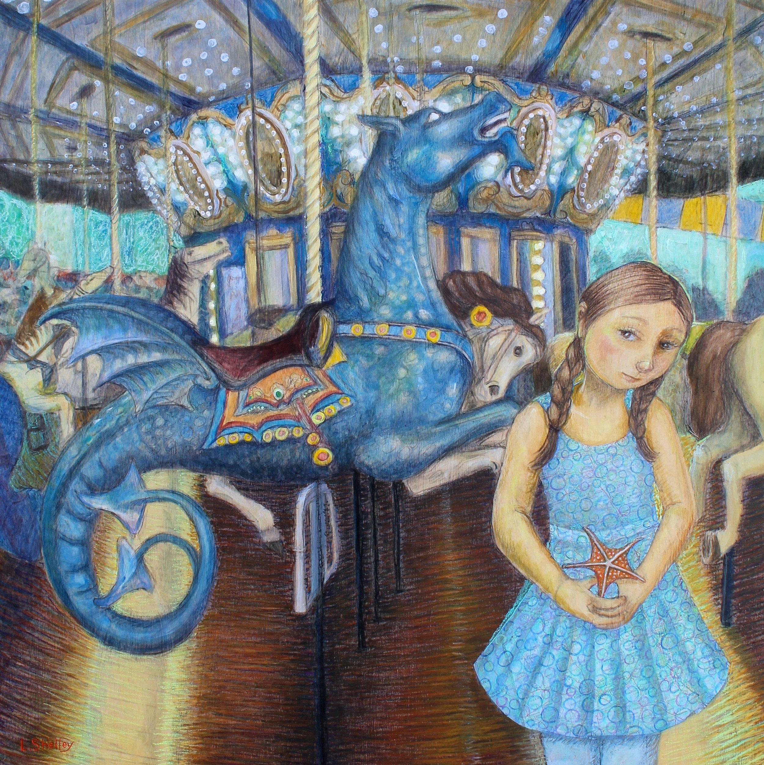Carousel in Blue