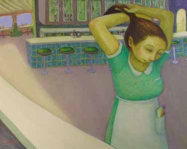 Diner Series - Waitress with Ponytail