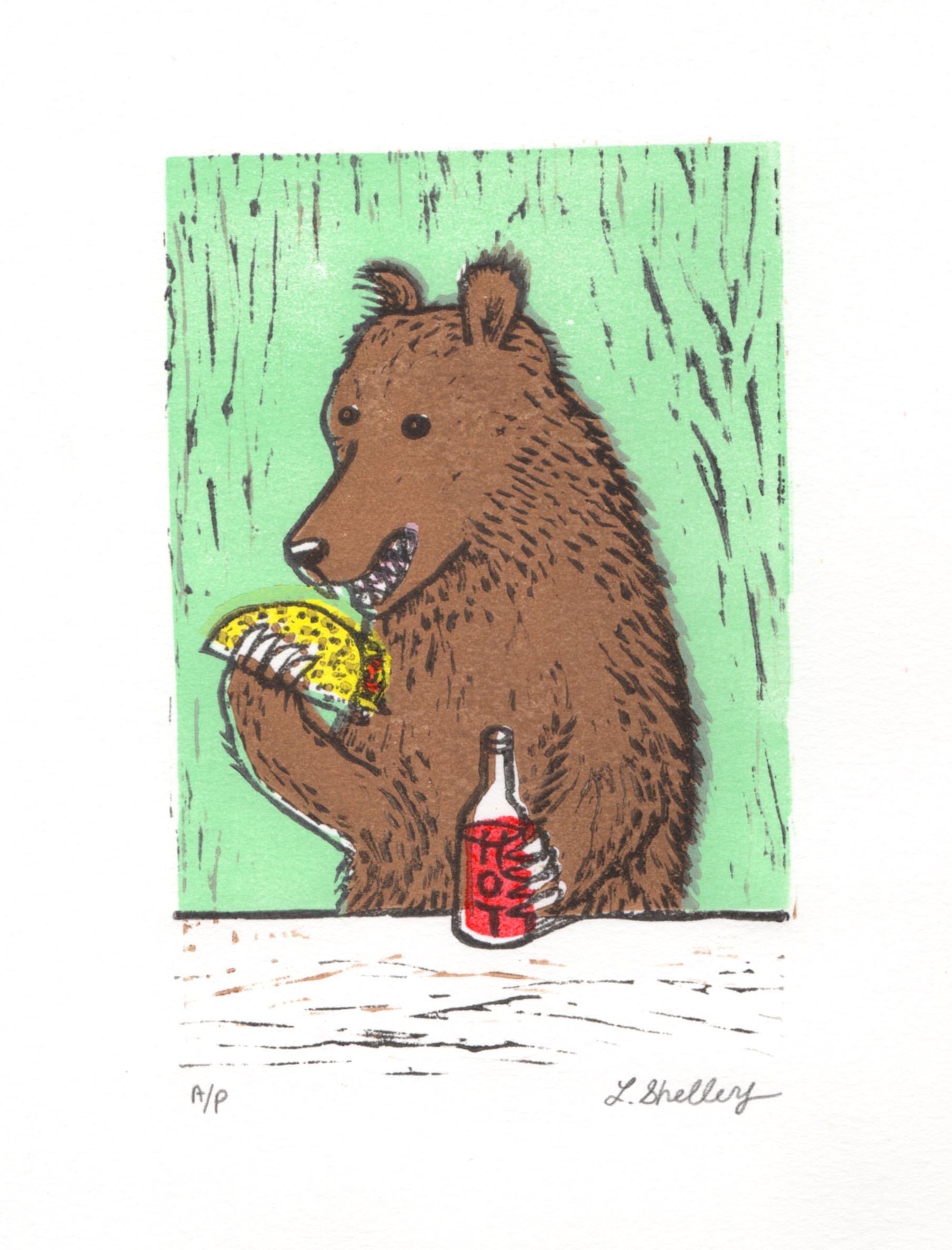 Taco Bear in Aqua
