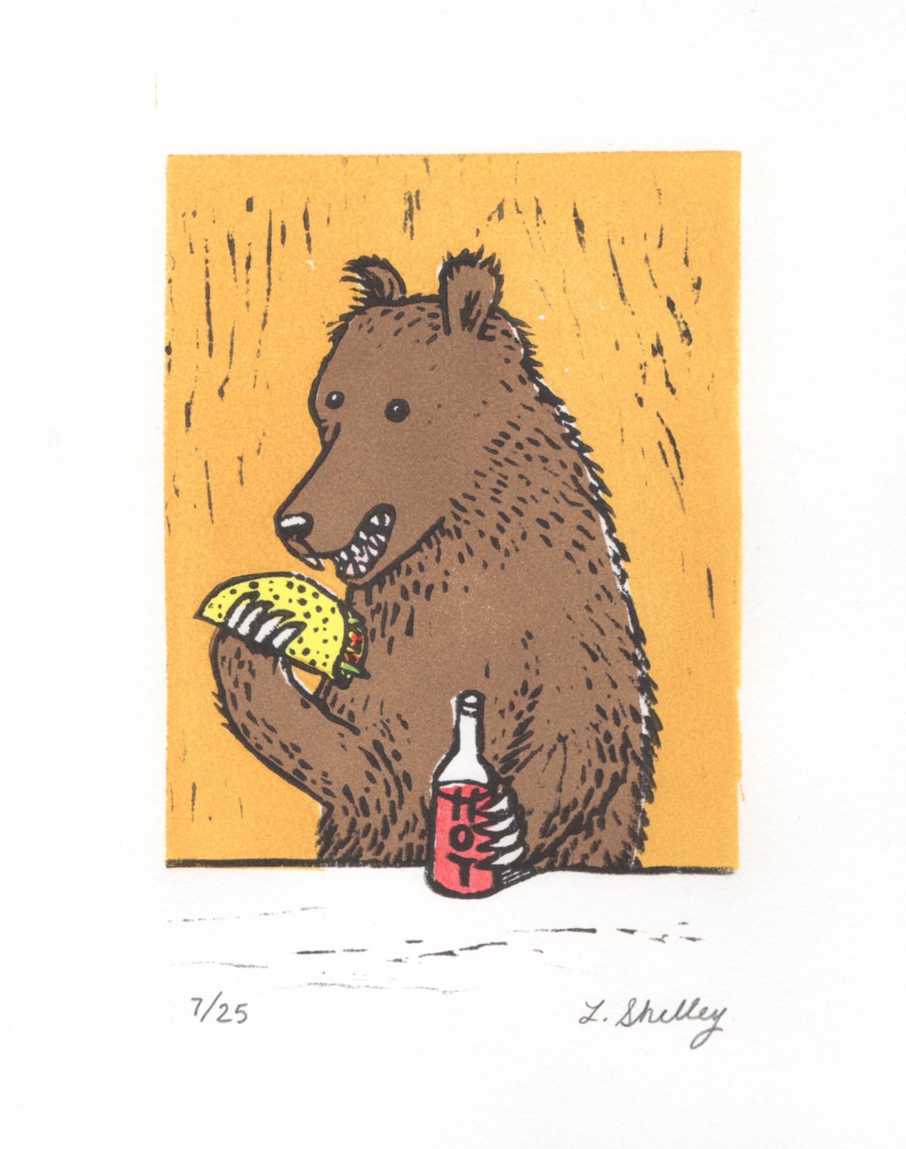 Taco bear in yellow