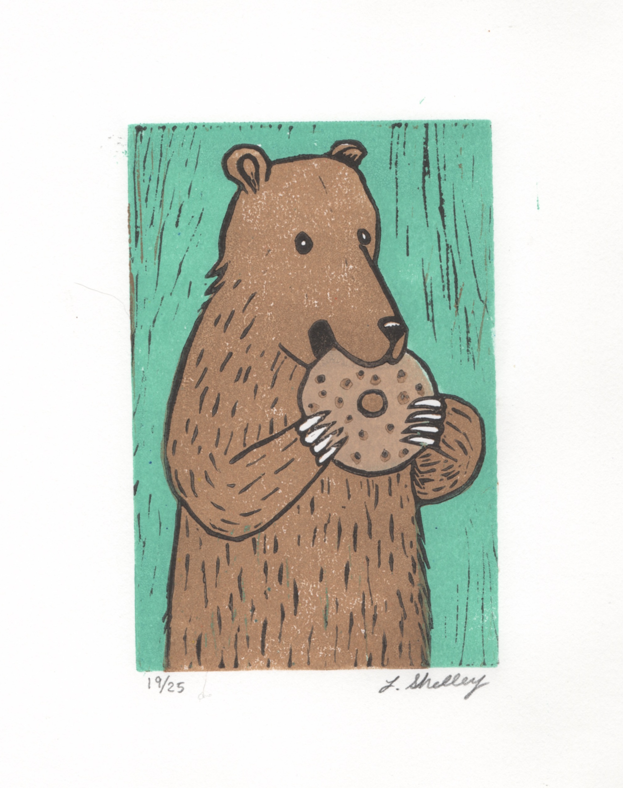 Bear with Bagel/Donut