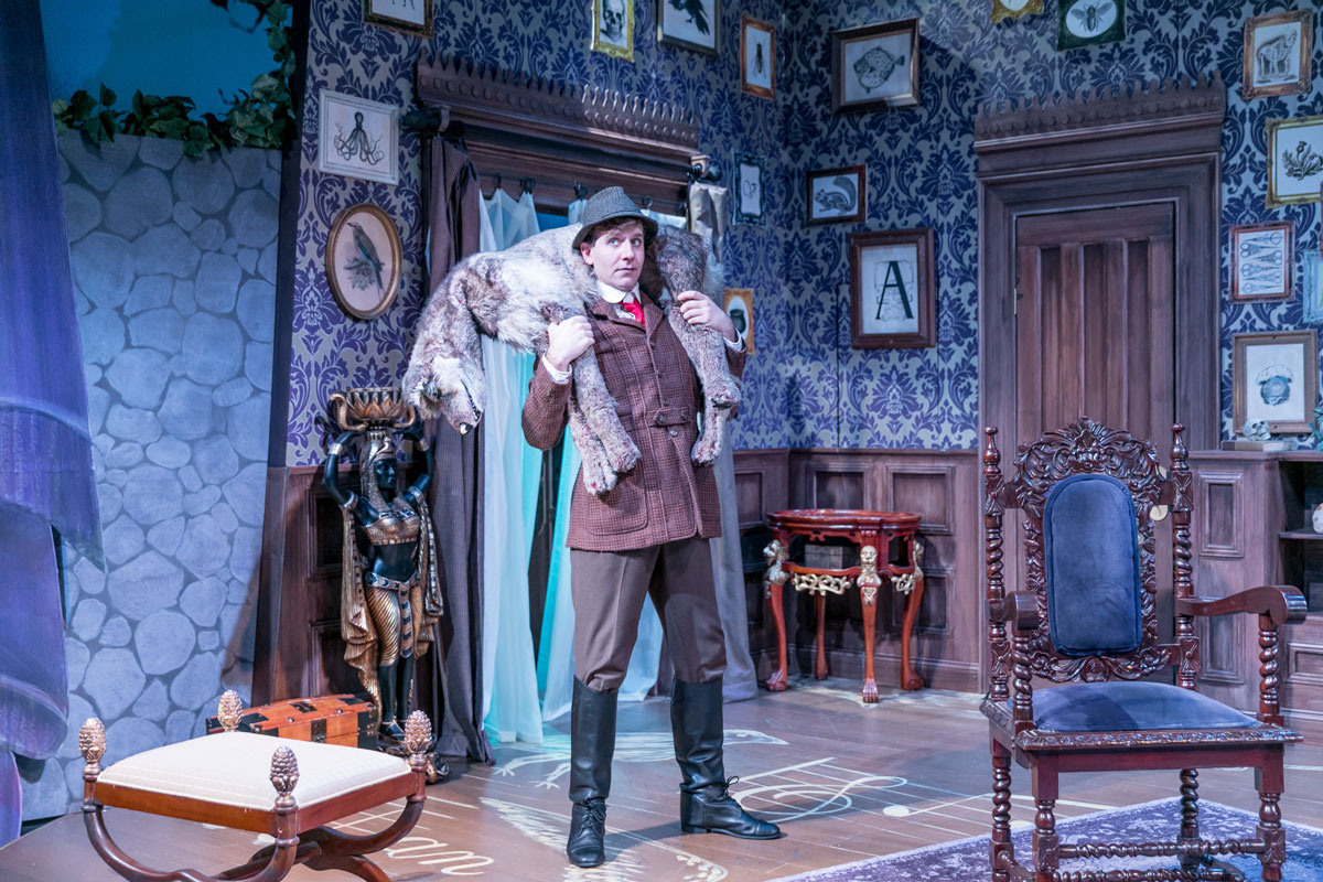 haas as lord edgar hillcrest in triad stage's production of the mystery of irma vep. photo credit: vanderveen photography