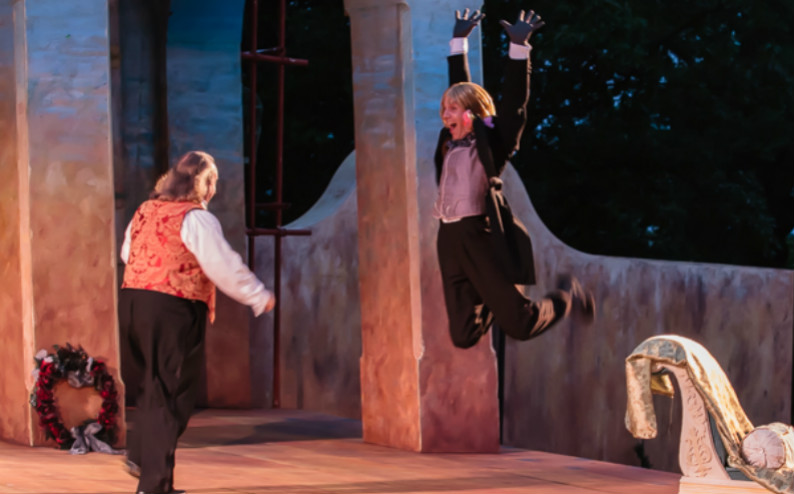 "with eric hoffmann in sfstl's ""twelfth night,"" 2013. 