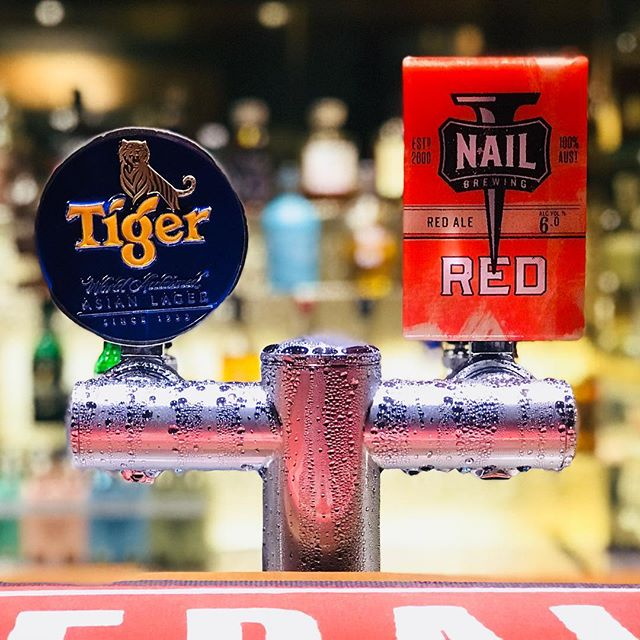 NAIL BREWING 🔴 The tasty Red Ale by locals - Nail Brewing, is now tapped! ✅ • $10/schooner $7 everyday between 5pm-7pm • Get some! 🍻