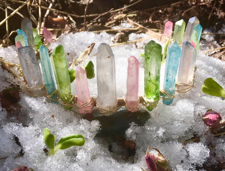 Pink Lune Snow Crown Jewelry Goddess Spring Flagstaff Arizona