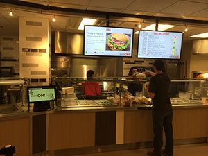 OSUMC recently revamped their cafeteria with self-order and a healthy new menu. -