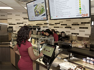 BistrOH! averages nearly 800 orders per day with transactions taking a mere 37 seconds. -