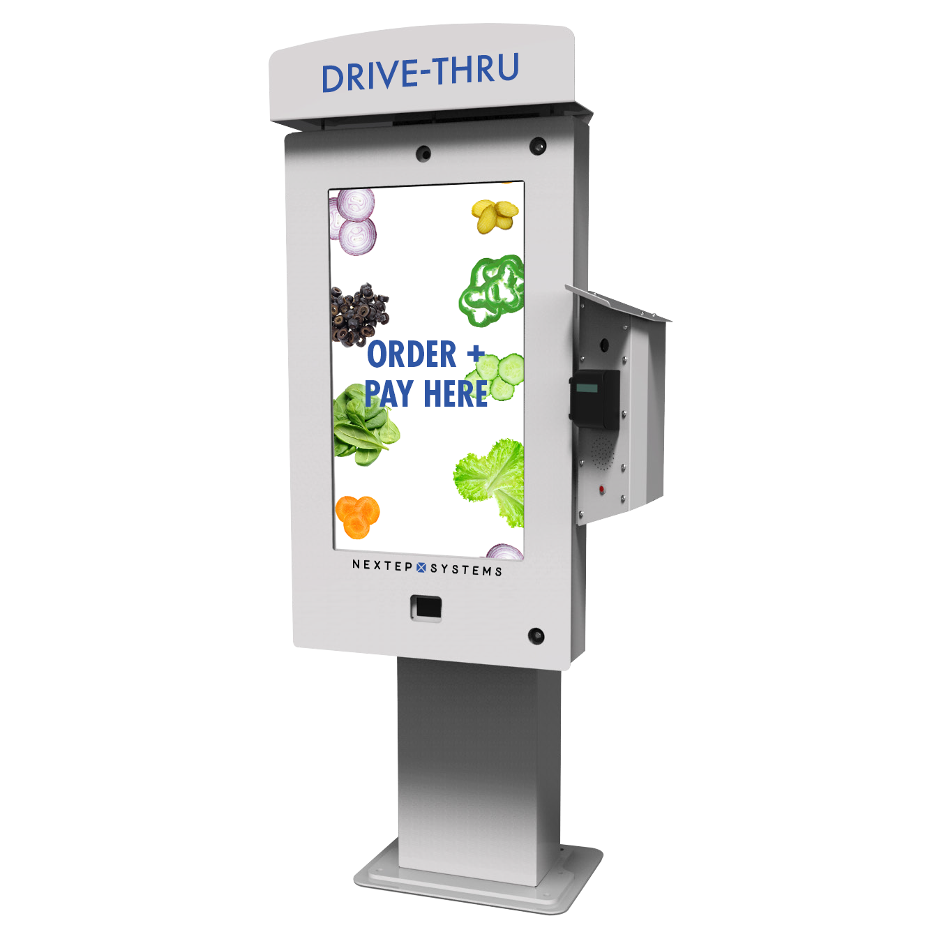 2. Test out our cutting-edge Touchscreen Drive-Thru. -