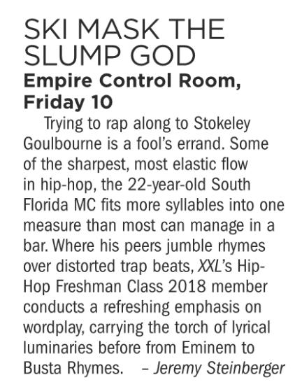Ski Mask The Slump God, Empire Control Room, August 10
