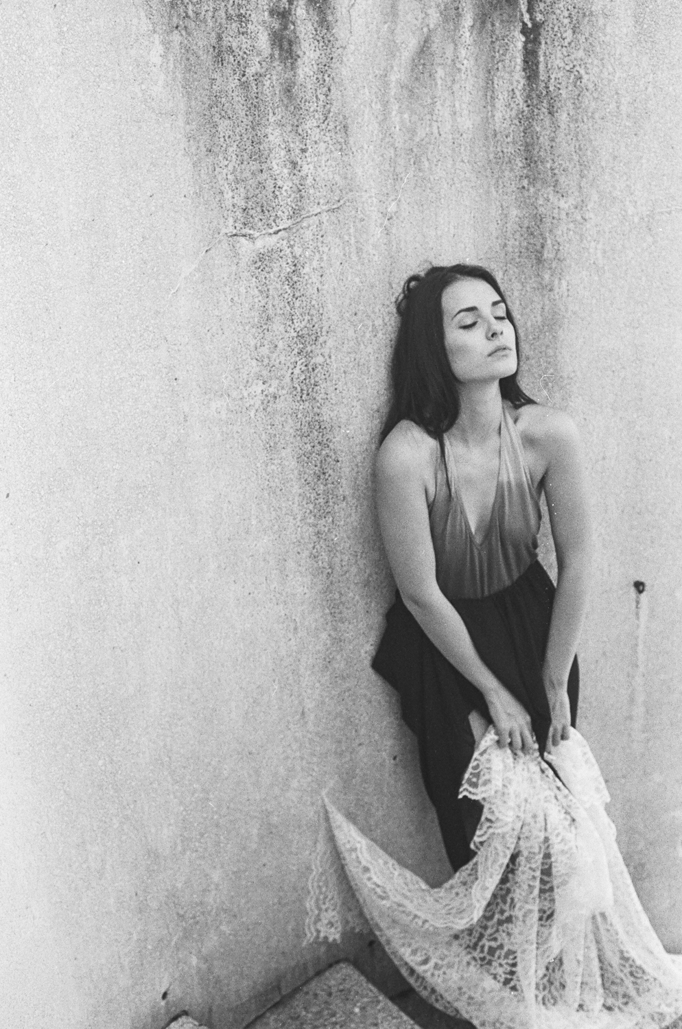Model: Elizabeth Cara 35mm black-and-white film