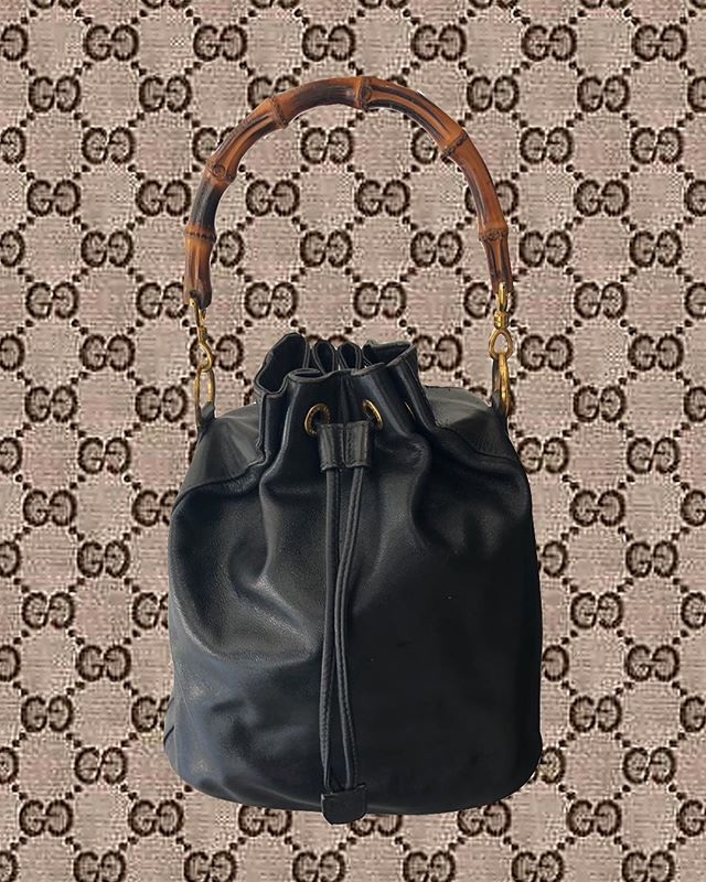 Now available in store and online: #gucci vintage bucket bag! $695. Click the link in our bio to purchase!