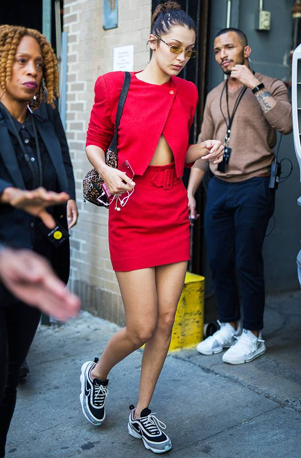 Bella Hadid's Matchy-Matchy Vintage Ensemble - Get the look HERE