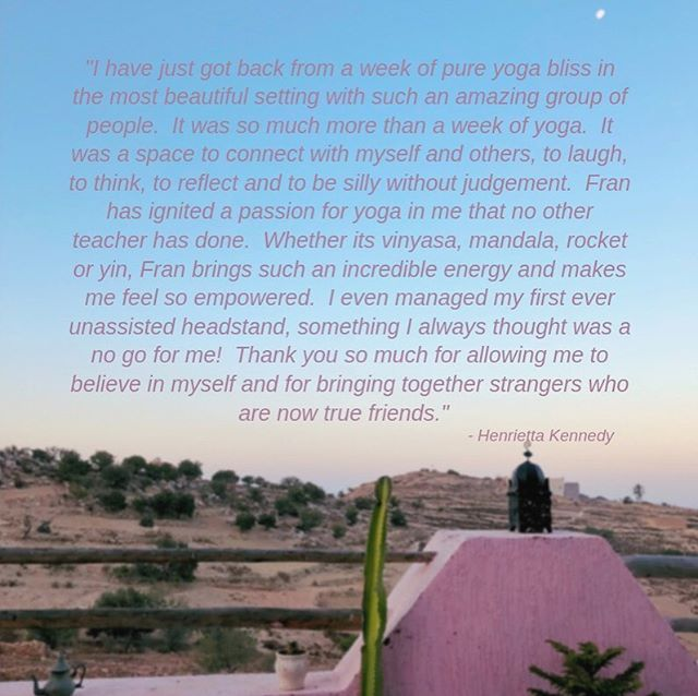 Testimonials that bring tears to my eyes! 😍😢 . Missing the beautiful group of humans in our special retreat villa in the Moroccan mountains. . Thank you so much @henriettakennedy @lizireynolds @koralwebb these words mean so so much to me 🤗❤️🙏🏼✨ . . . #retreatlife #yogis #yogifam #friendship #lovewins