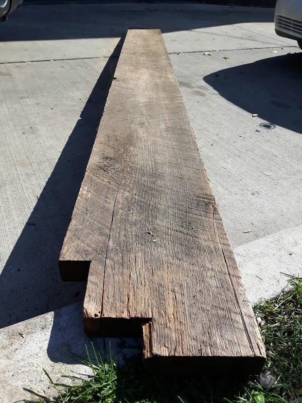 rough salvaged dimensional lumber