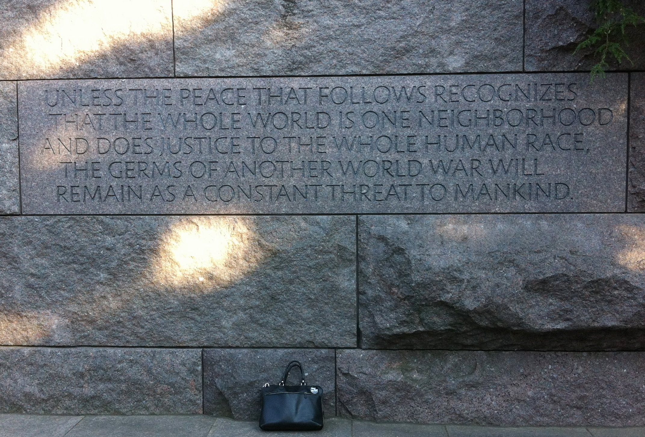 Roosevelt memorial. Washington D.C., USA, 2016.