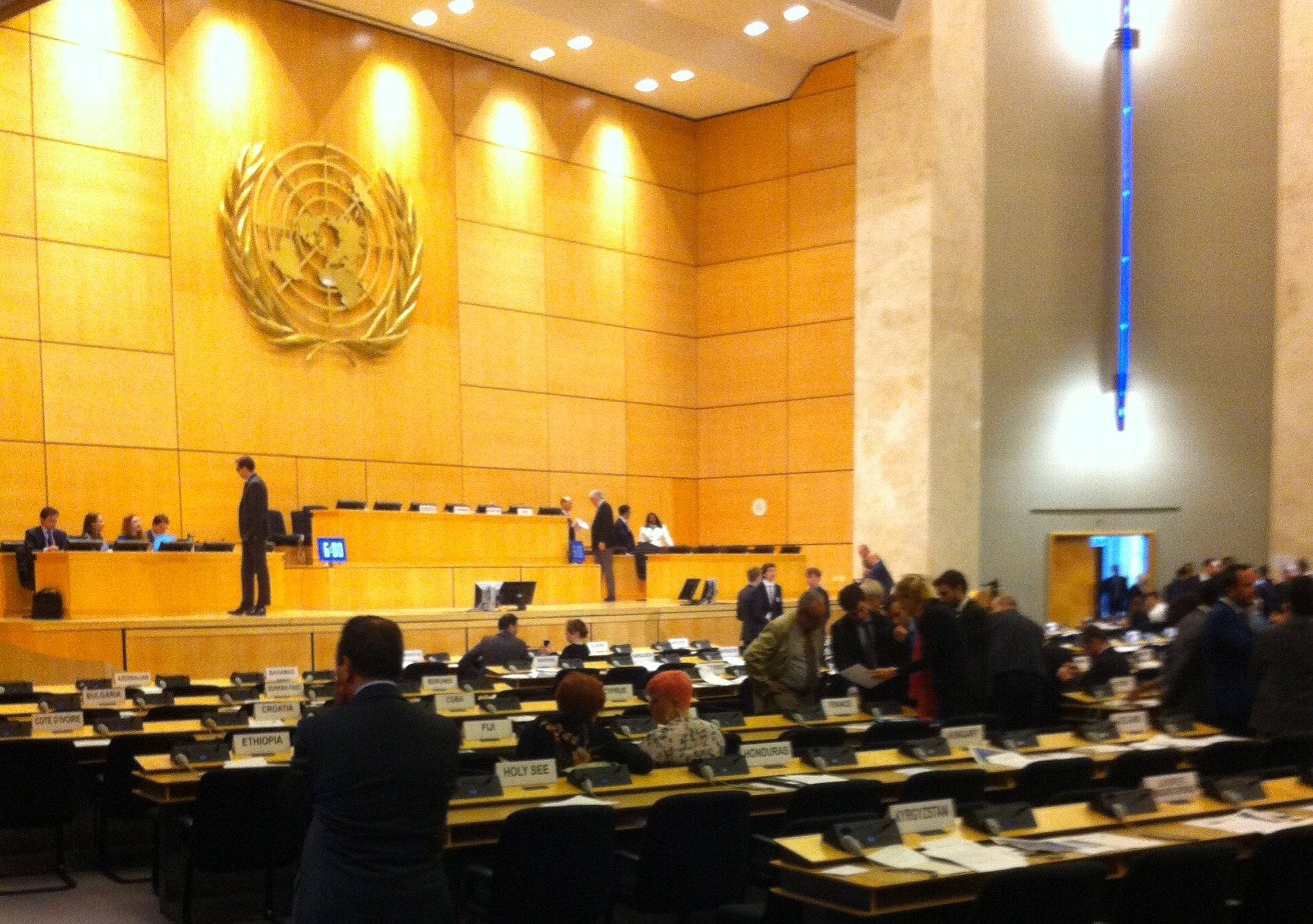 UN Assembly Hall. Geneva, Switzerland, 2018.