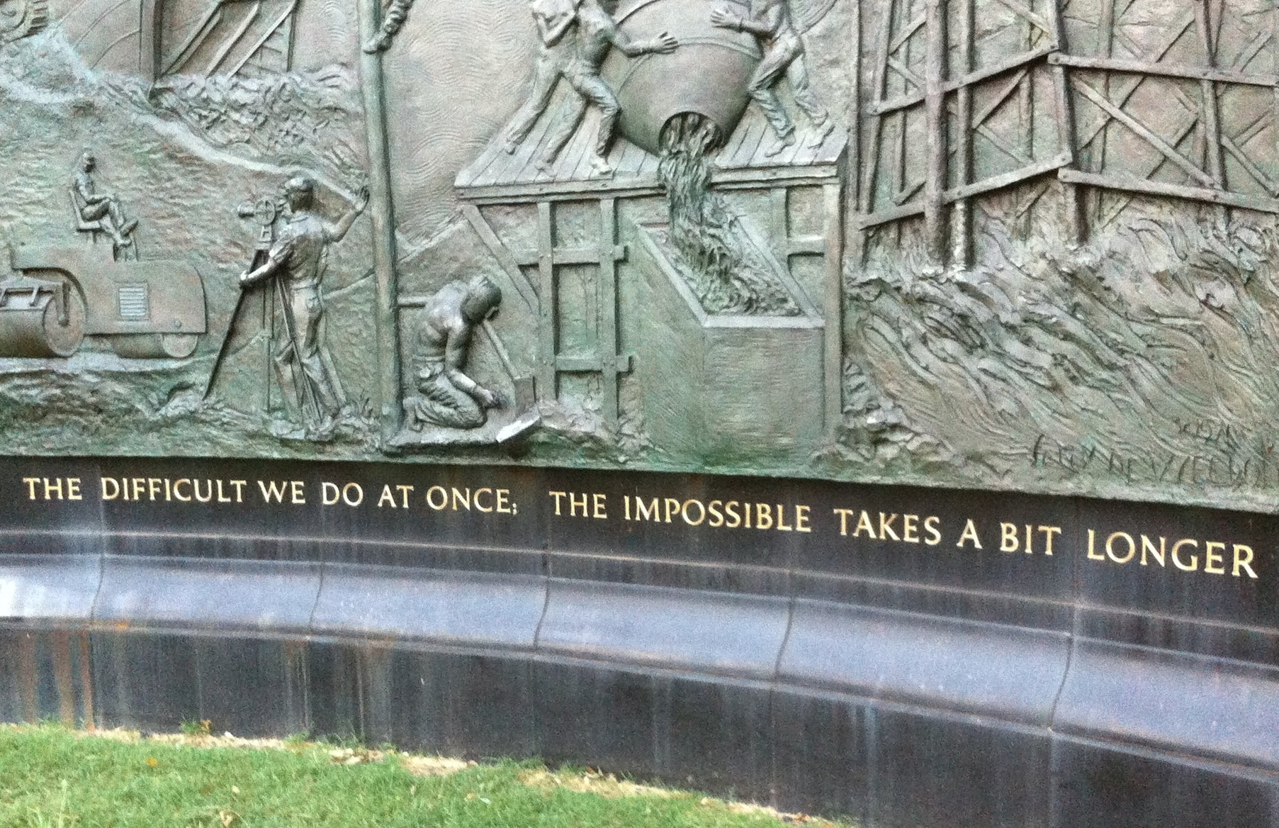 """The impossible takes a bit longer."" Washington D.C., USA, 2016."