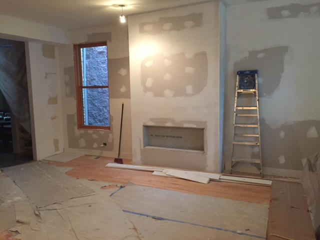 Custom Fireplace & Living Room Remodel Before