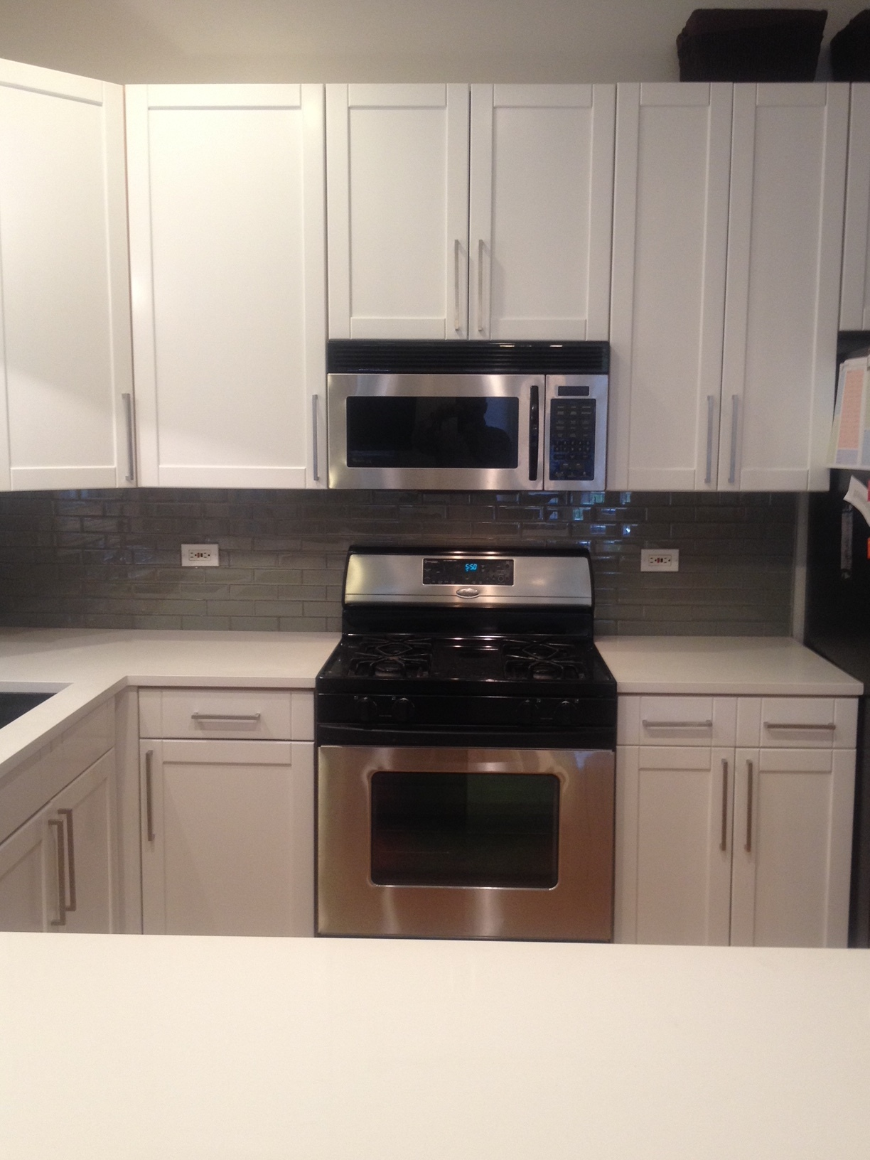 Kitchen Remodel: Painted Cabinets, New Backsplash & Counters