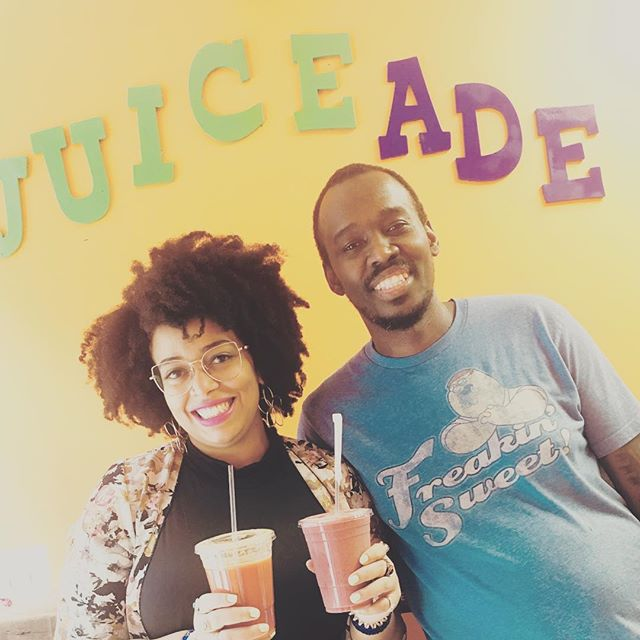 Had a wonderful time while supporting a new black business!! Health is wealth and @juiceade gets the Clinicians of the Diaspora stamp of approval. Go support him and your health. It's a win-win!! #healersofcolor #cliniciansofthediaspora #juicelife #juicing