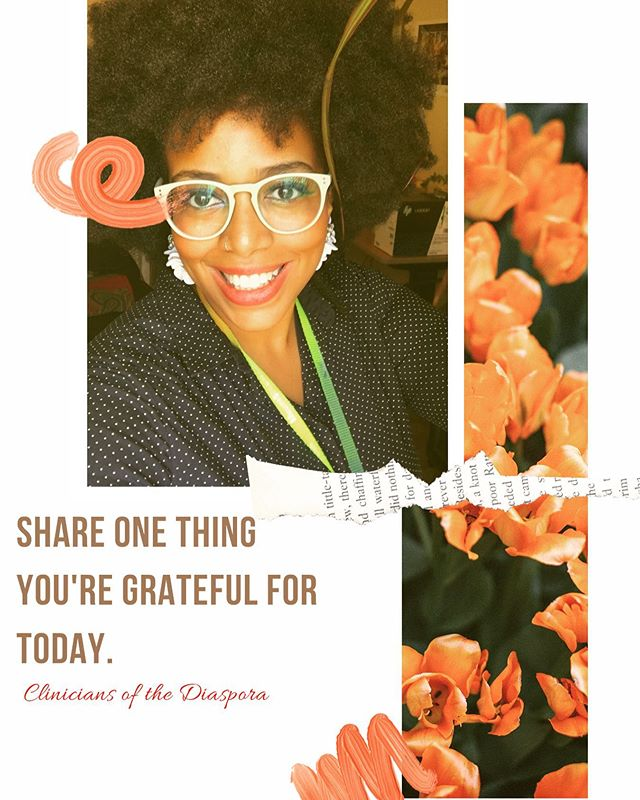 "Do you want to live a more ""happier"" life? First thing to do is recognize that happiness is a fleeting feeling and it is actually through gratitude that you truly connect to that feeling of bliss!! So, what are you grateful for? Let us know in the comments. #cliniciansofthediaspora #healers #socialworker #businessowner #therapy #growthmindset #gratitude"